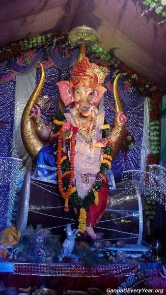 Ganpatiji At Chandi Bazar, Jamnagar, 2015