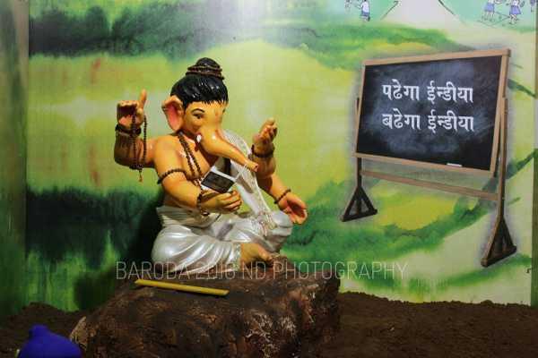 Ganpatiji at Kumbharvada Bal Yuvak Mandal Salatvad Baroda 2016