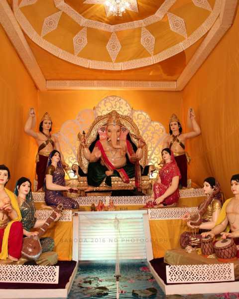 Ganpati at Malhar Group Baroda 2016